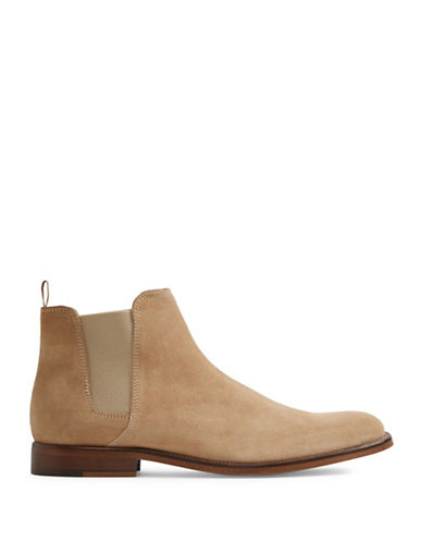 Aldo Vianello Chelsea Leather Boots-BEIGE-9.5