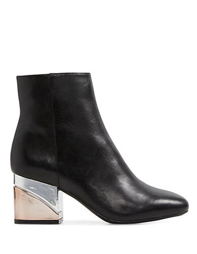 Aldo City Fashion Leather Booties-BLACK-9