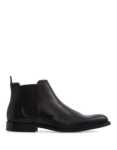 Aldo Vianello Chelsea Leather Boots-BLACK-10.5