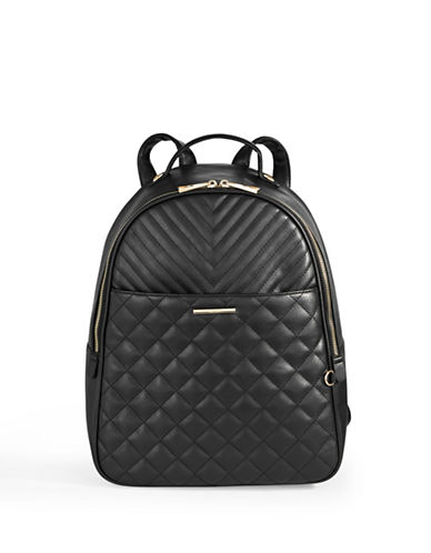Aldo Quilted Backpack-BLACK-One Size