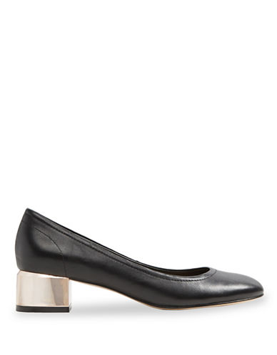 Aldo Leonora Leather Round Toe Pumps-BLACK-11