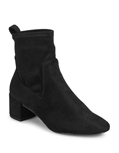 Aldo Imitation Suede Boots-BLACK SUEDE-8.5