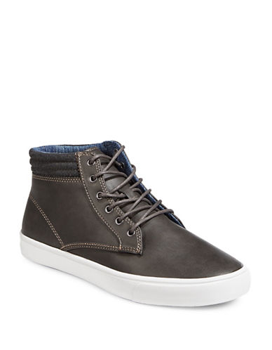 1670 Round Toe Sneaker Boots-GREY-EU 41.5/US 8.5