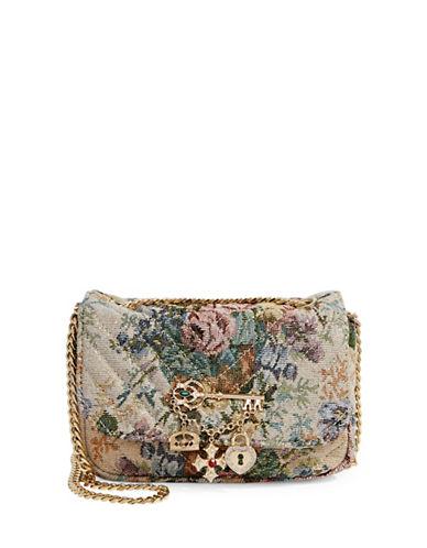 Aldo Quilted Velvet Shoulder Bag-MULTI-One Size