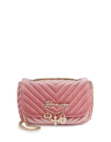 Aldo Quilted Velvet Shoulder Bag-PINK-One Size