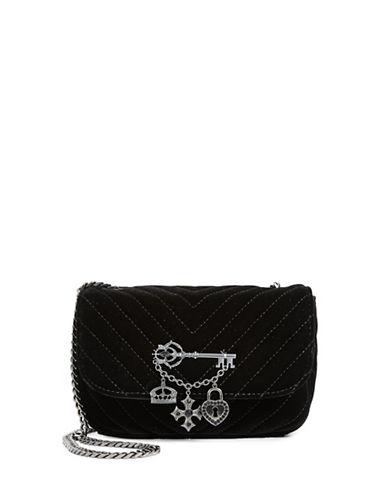 Aldo Quilted Velvet Shoulder Bag-BLACK-One Size