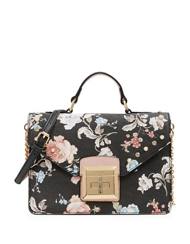 Aldo Thenancy Floral Crossbody Bag-BLACK-One Size