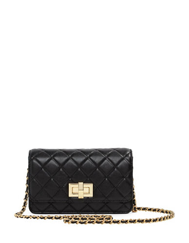 Aldo Pavon Mini Quilted Crossbody Bag-BLACK-One Size