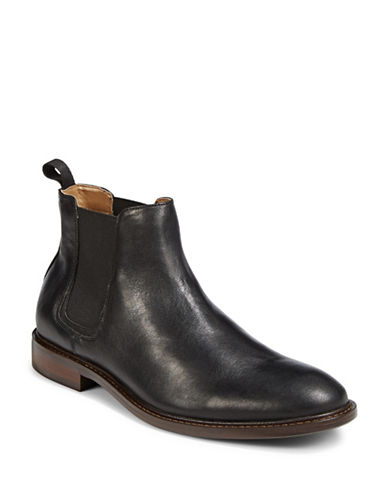 Pegabo Combatte Leather Chelsea Boots-BLACK-EU 43/US 10