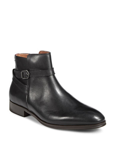 Aldo Godeno Leather Ankle Boots-BLACK-9.5