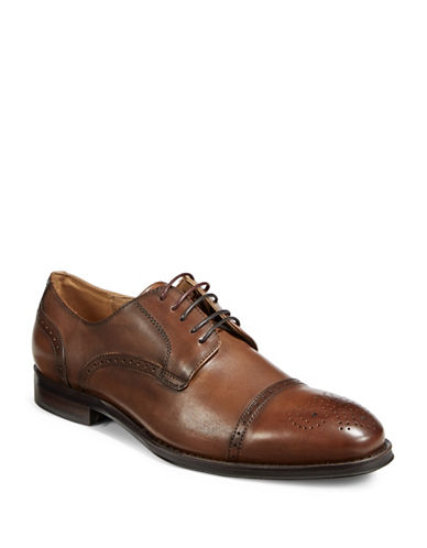Pegabo Leather Brogues-BROWN-EU 43/US 10