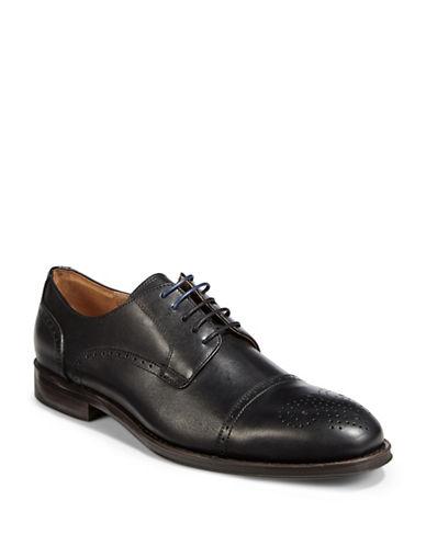 Pegabo Leather Brogues-BLACK-EU 44/US 11