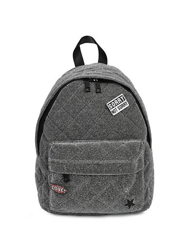Aldo Abadowet Quilted Backpack-GREY-One Size
