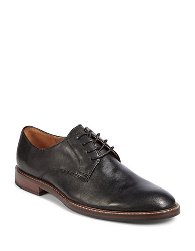 Pegabo Leather Lace-Up Dress Shoes-BLACK-EU 44/US 11
