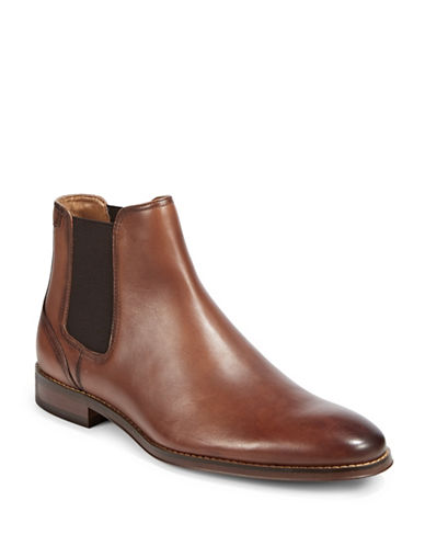 Pegabo Billa Leather Chelsea Boots-BROWN-EU 45/US 12
