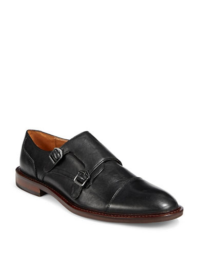 Pegabo Palcoda Monk Strap Dress Shoes-BLACK-EU 42/US 9