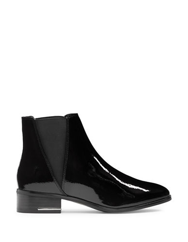 Aldo Gaudet Patent Leather Chelsea Boots-BLACK PATENT-9