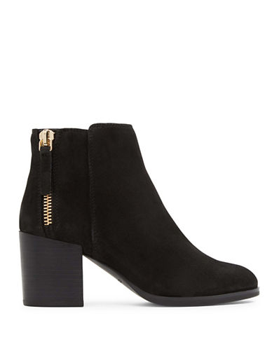 Aldo Kelii Leather Booties-BLACK-7.5