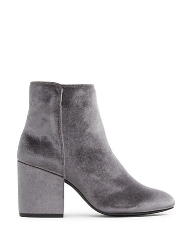 Aldo Masen Leather Booties-GREY-5