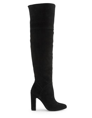 Aldo Maroco Suede Boots-BLACK SUEDE-6