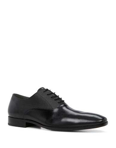 Aldo Piccadilly Leather Oxfords-BLACK-10.5