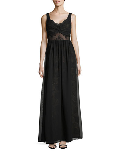 Vera Wang Sweetheart Lace Gown-BLACK-10