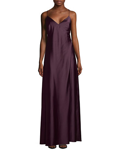 Vera Wang Open Back Floor-Length Dress-PURPLE-12