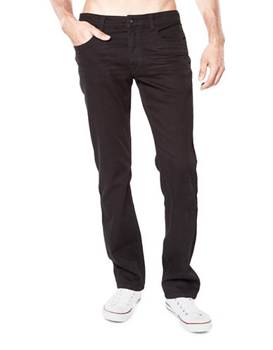 Bauhaus Straight Fit Solid Jeans-BLACK-31X32