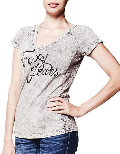 Foxy Jeans Short Sleeve Tee-BLACK-X-Small 89132782_BLACK_X-Small