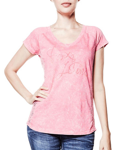 Foxy Jeans Short Sleeve Tee-PINK-Small