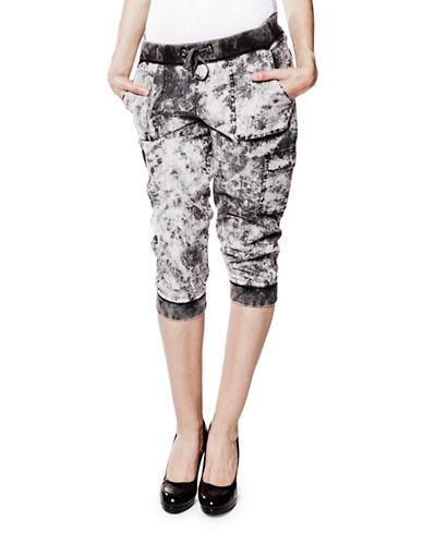 Foxy Jeans Cotton Cargo Capris-BLACK-X-Small 89132950_BLACK_X-Small