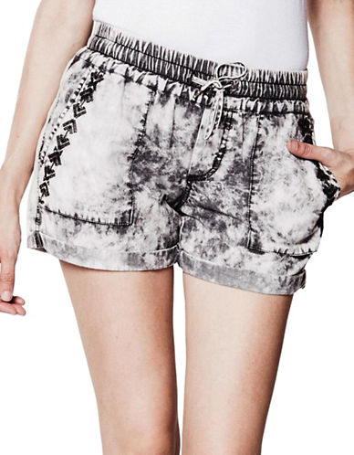 Foxy Jeans Cotton Pull-On Shorts-BLACK-X-Small