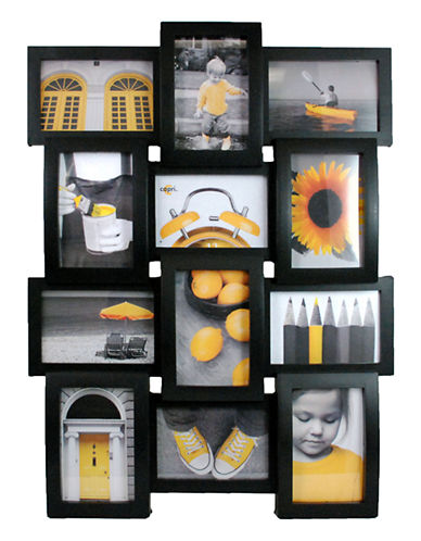 Home Outfitters Curve Collage Frame Black-BLACK-One Size
