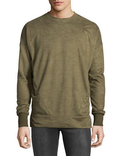 Kollar Slant-Pocket Pullover-GREEN-Large