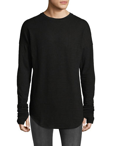 Kollar Layered Long Sleeve Tee-BLACK-X-Large