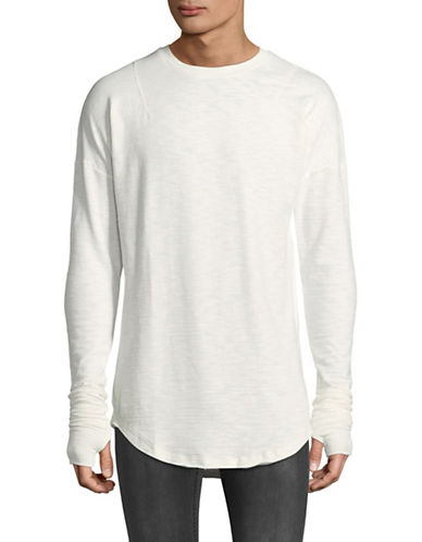 Kollar Layered Long Sleeve Tee-WHITE-Large 89400881_WHITE_Large