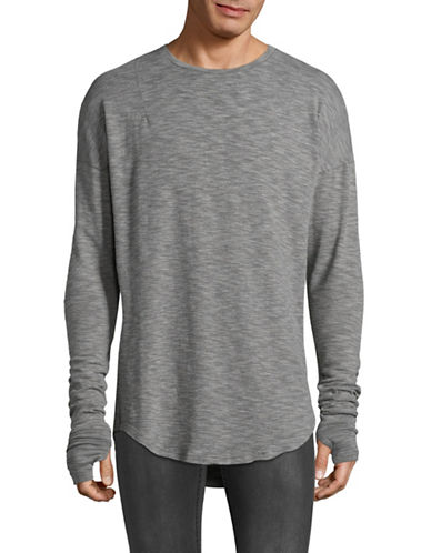 Kollar Layered Long Sleeve Tee-GREY-Small