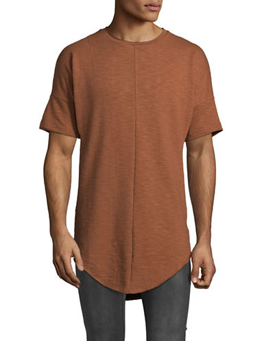 Kollar Front Seam Tee-ORANGE-X-Large