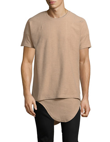Kollar Inverted French Terry Tee-BEIGE-X-Large