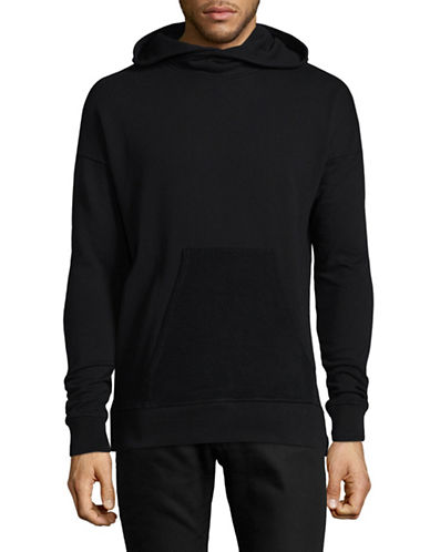 Kollar Dropped Shoulder Hoodie-BLACK-Large