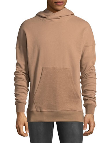 Kollar Dropped Shoulder Hoodie-TAN-Large