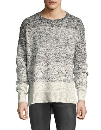Kollar Ombre Snow Leopard Sweater-GREY-X-Large