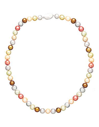 Honora Style Gelato Ringed Cultured Pearl Strand Necklace-MULTI COLOURED-One Size