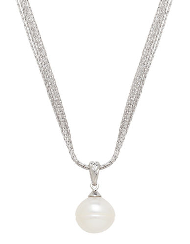 Honora Style 13 to 14mm Single Pearl Pendant Necklace-WHITE-One Size