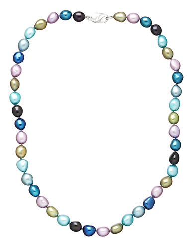 Honora Style Peacock Baroque Cultured Pearl Strand Necklace-MULTI COLOURED-One Size
