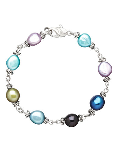 Honora Style Sterling Peacock Baroque Pearl Bracelet-MULTI COLOURED-One Size