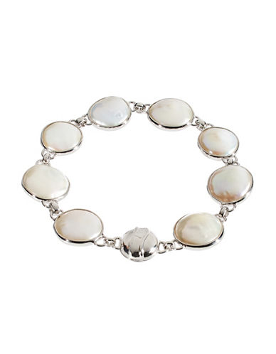 Honora Style Freshwater Pearl Sterling Silver Bracelet-WHITE-One Size