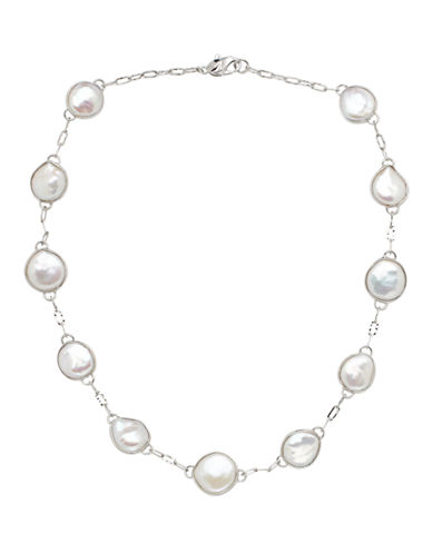 Honora Style 12 to 16mm Flat Freshwater Pearl Necklace-WHITE-One Size