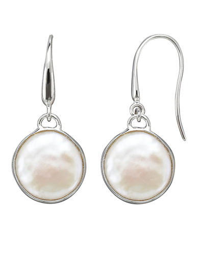 Honora Style White Freshwater Pearl Drop Earrings-WHITE-One Size