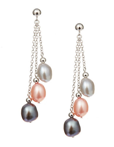 Honora Style 8 to 9 MM Fresh Water Pearl Drop Earrings-PINK-One Size